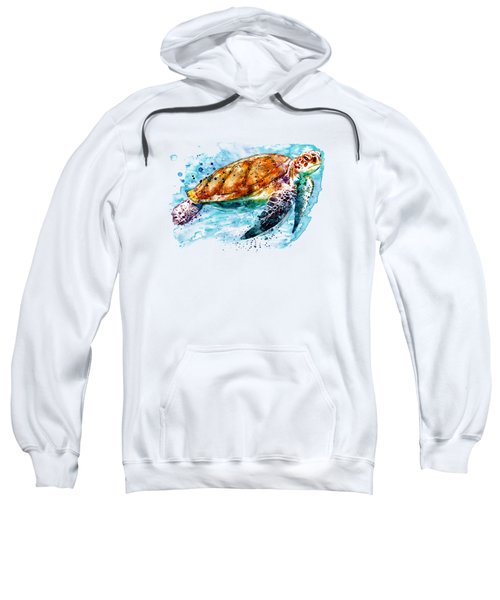 Sea Turtle  Sweatshirt by Marian Voicu
