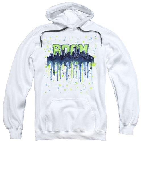 Seattle 12th Man Legion Of Boom Watercolor Sweatshirt