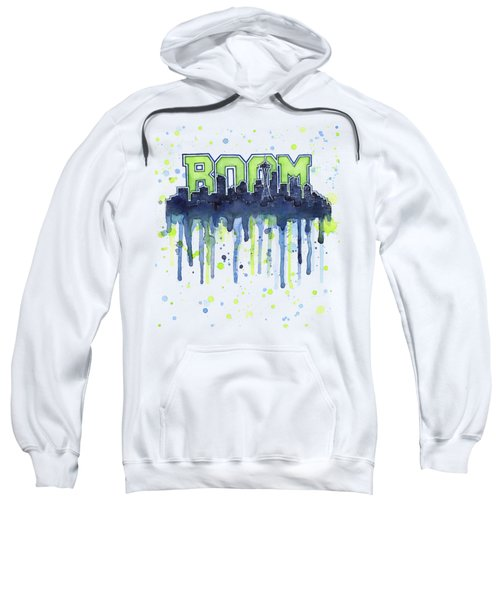 Seattle 12th Man Legion Of Boom Watercolor Sweatshirt