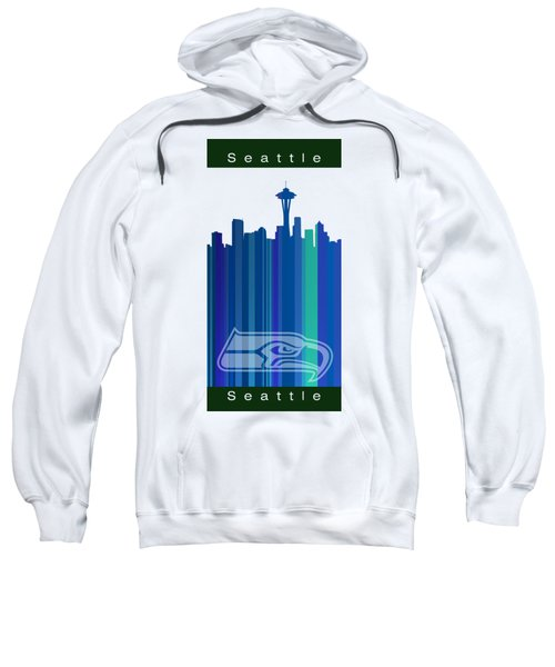 Seattle Sehawks Skyline Sweatshirt by Alberto RuiZ