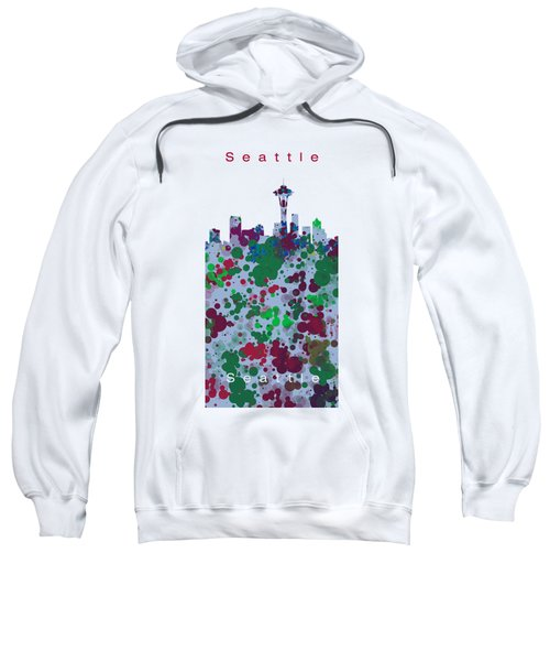 Seattle Skyline .3 Sweatshirt by Alberto RuiZ