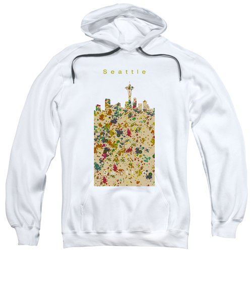 Seattle Skyline.2 Sweatshirt by Alberto RuiZ