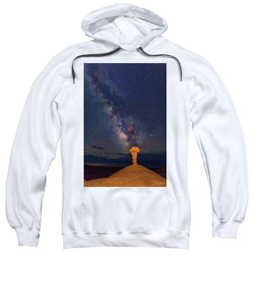 Secret Spire And The Milky Way Vertical Sweatshirt