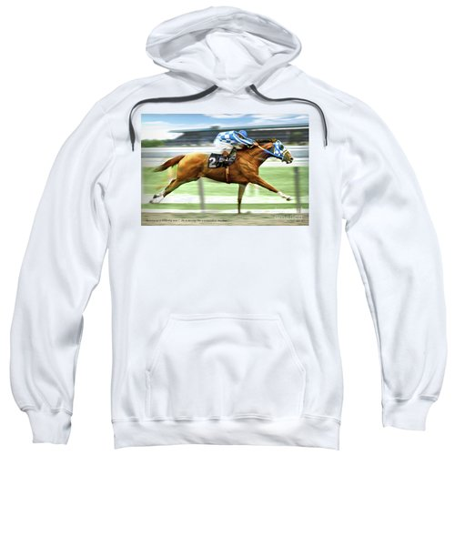 Secretariat On The Back Stretch At The Belmont Stakes Sweatshirt