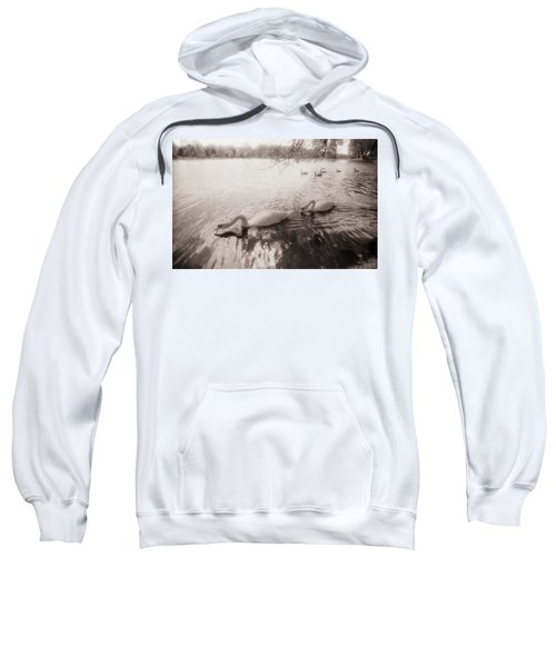 Sepia Swans Sweatshirt