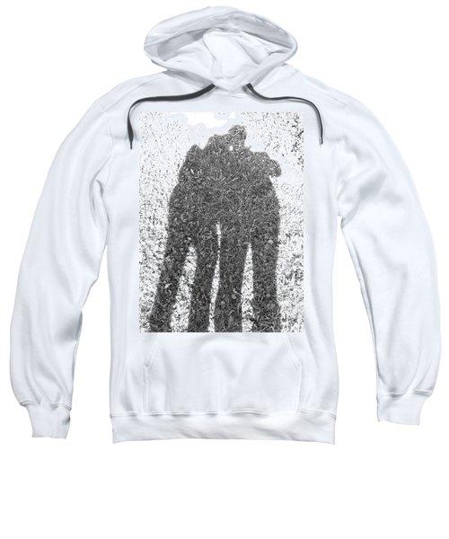 Shadow In The Meadow Bw Sweatshirt