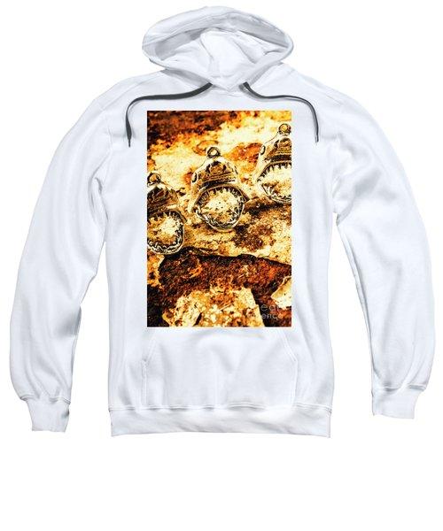 Shark Pendants On Rusty Marine Background Sweatshirt