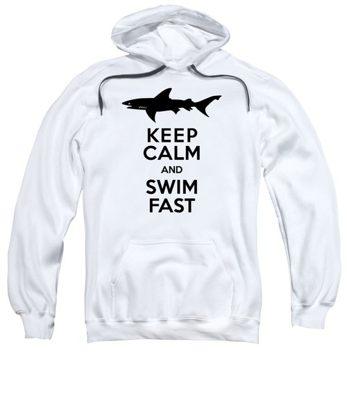 Sharks Keep Calm And Swim Fast Sweatshirt by Antique Images