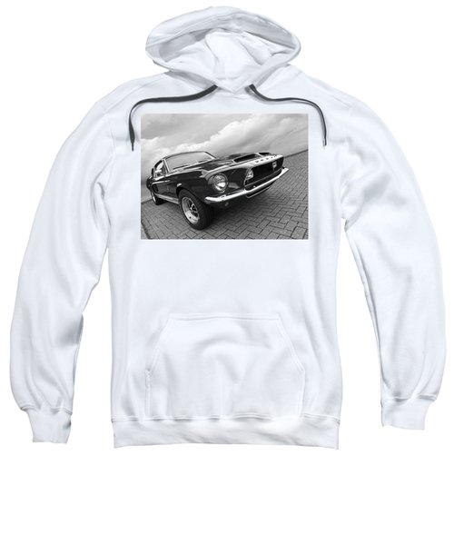 Shelby Gt500kr 1968 In Black And White Sweatshirt