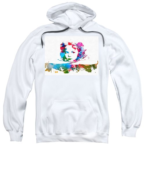 Shirley Temple Watercolor Paint Splatter Sweatshirt by Dan Sproul