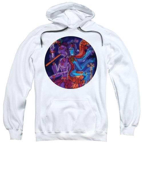 Sweatshirt featuring the painting Shiva And Krishna by Guruji Aruneshvar Paris Art Curator Katrin Suter
