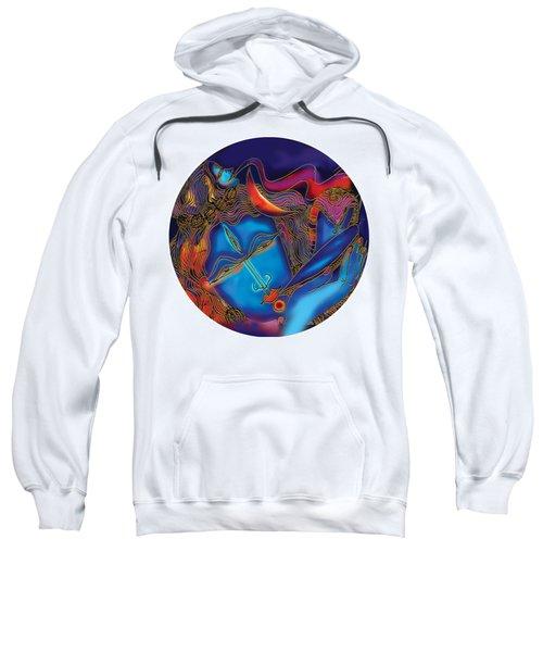 Sweatshirt featuring the painting Shiva Blowing The Horn by Guruji Aruneshvar Paris Art Curator Katrin Suter