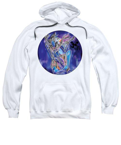 Sweatshirt featuring the painting Shiva Playing Vina by Guruji Aruneshvar Paris Art Curator Katrin Suter