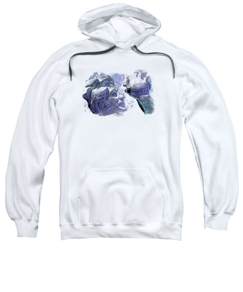 Shoot For The Sky Berry Blues 3 Dimensional Sweatshirt