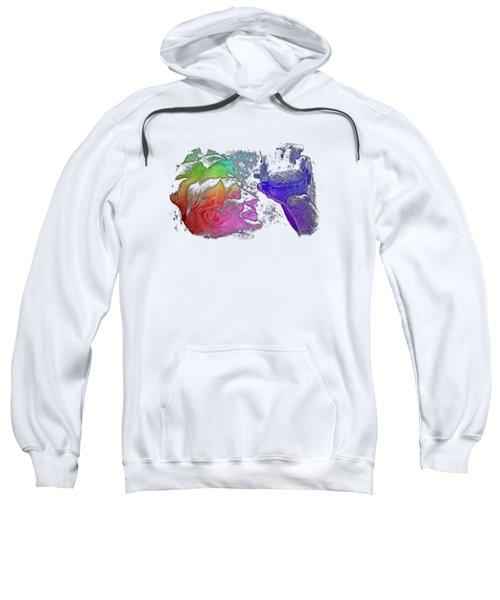Shoot For The Sky Cool Rainbow 3 Dimensional Sweatshirt