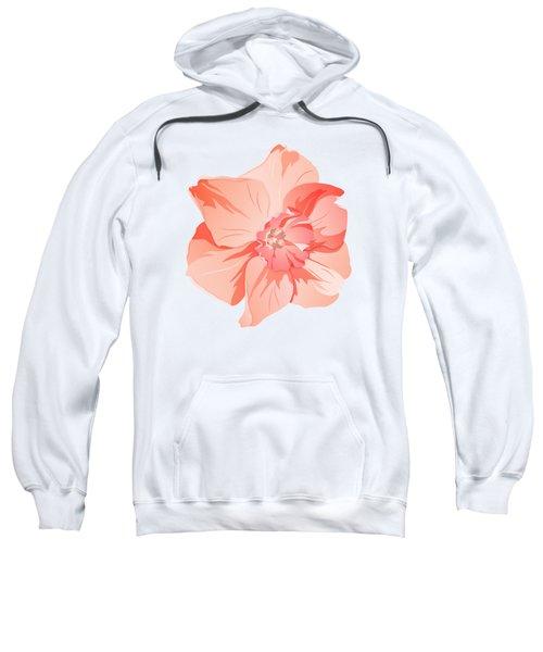 Short Trumpet Daffodil In Warm Pink Sweatshirt
