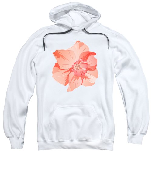 Short Trumpet Daffodil In Warm Pink Sweatshirt