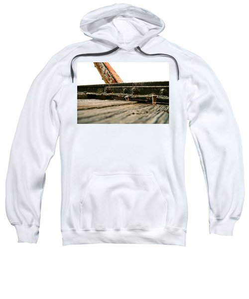 Side Of Rail #photography #trains Sweatshirt