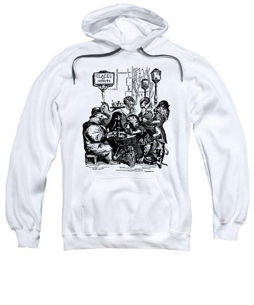 Sidewalk Cafe Grandville Transparent Background Sweatshirt