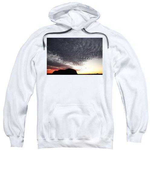 Silhouette Of Uluru At Sunset Sweatshirt