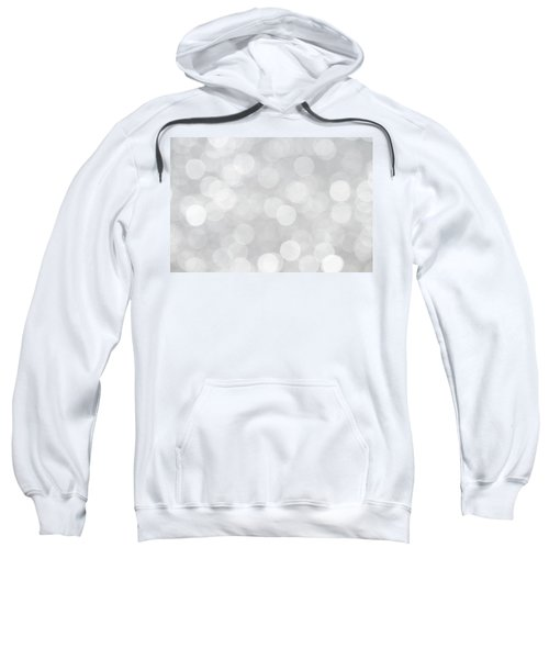 Silver Grey Bokeh Abstract Sweatshirt