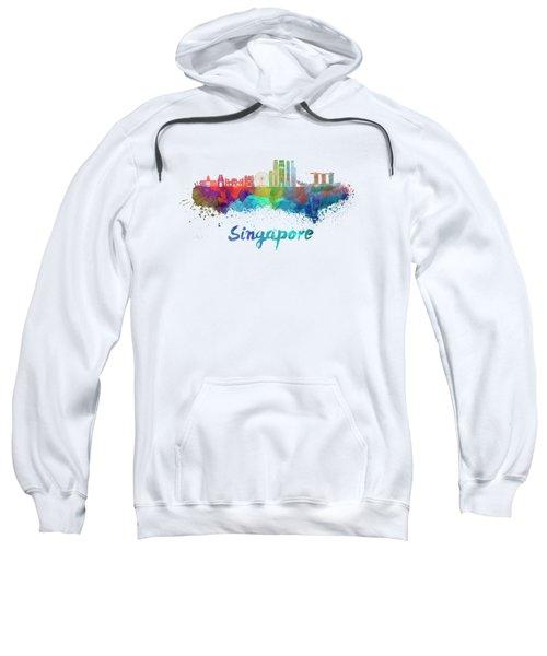 Singapore V2 Skyline In Watercolor Sweatshirt