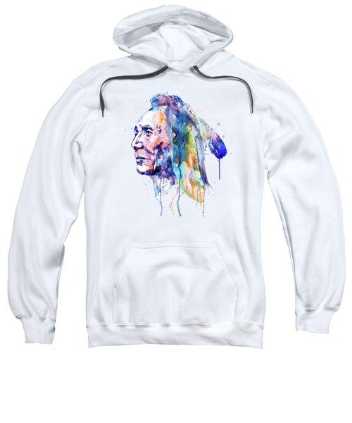 Sioux Warrior Watercolor Sweatshirt