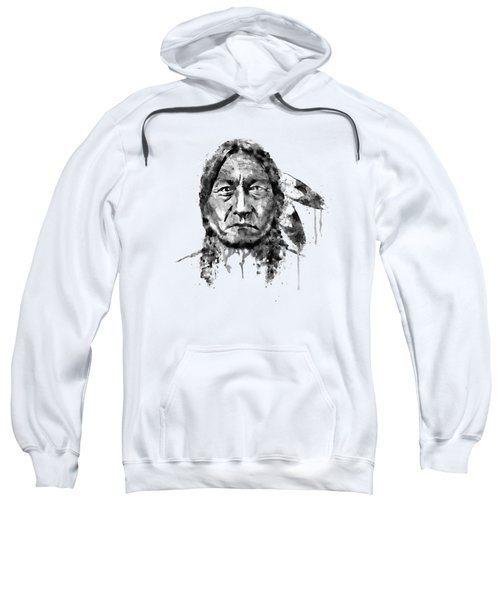 Sitting Bull Black And White Sweatshirt