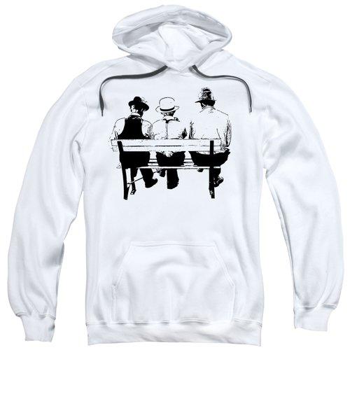 Sitting On A Park Bench Sweatshirt