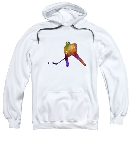 Skater Of Hockey In Watercolor Sweatshirt