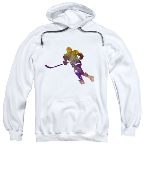 Skater With Stick In Watercolor Sweatshirt