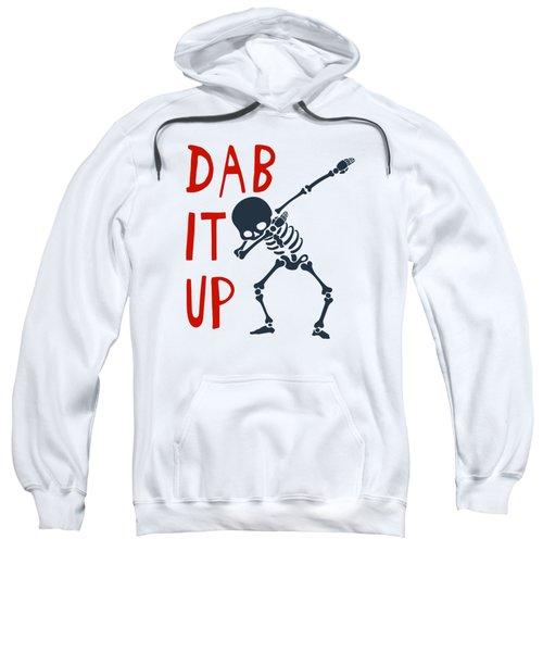 Skelleton Halloween Dabbing Funny Humor Easy Costume Dab It Up Everywhere Kids Children Dabbing Offi Sweatshirt
