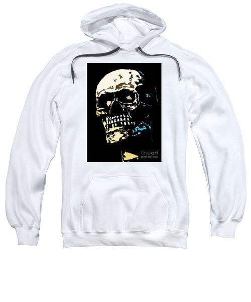 Skull Against A Dark Background Sweatshirt