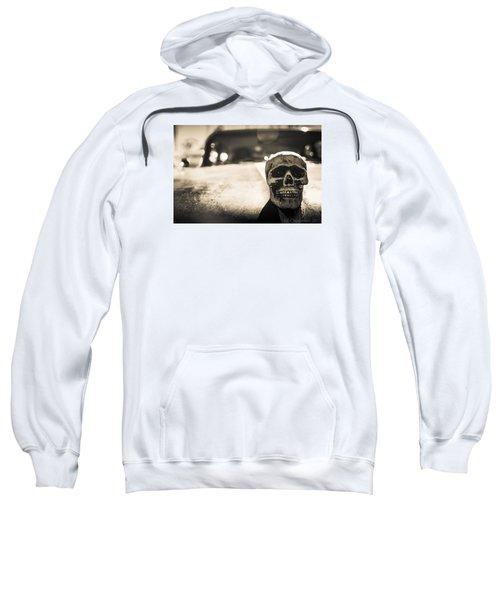 Sweatshirt featuring the photograph Skull Car by Lora Lee Chapman