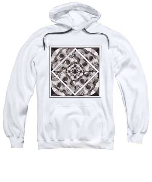 Skull Mandala Series Number Two Sweatshirt by Deadcharming Art