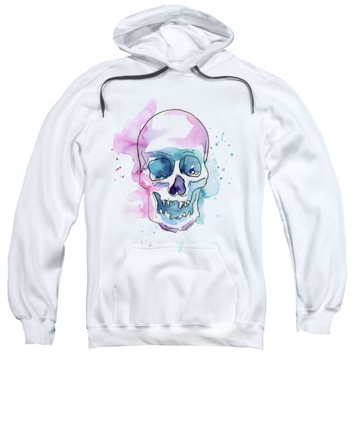 Skull Watercolor Abstract Sweatshirt
