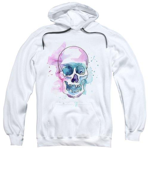 Skull Watercolor Abstract Sweatshirt