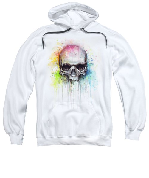 Skull Watercolor Painting Sweatshirt