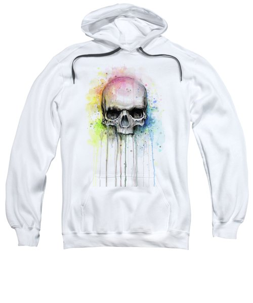 Skull Watercolor Rainbow Sweatshirt