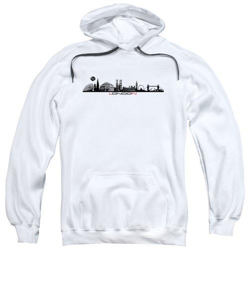skyline city London black Sweatshirt