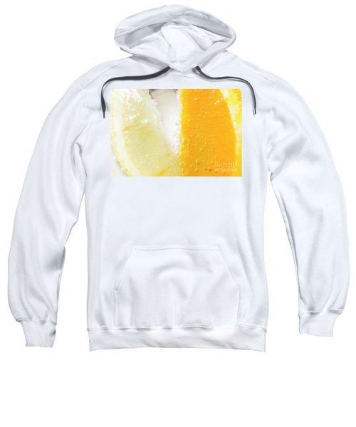 Slice Of Orange And Lemon In Cocktail Glass Sweatshirt