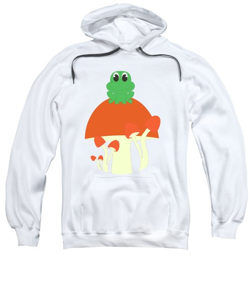 Small Frog Sitting On A Mushroom  Sweatshirt