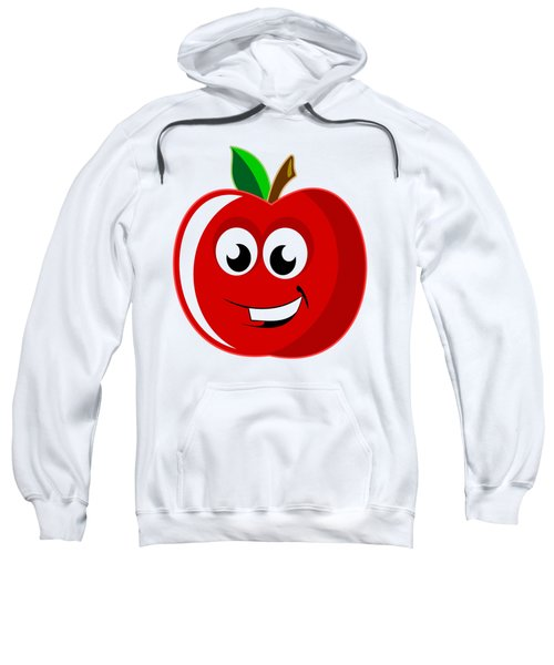 Smiley Tomato With Changeable Background  Sweatshirt by Sebastien Coell