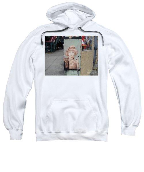 Smoking Girl  Sweatshirt by Cole Thompson