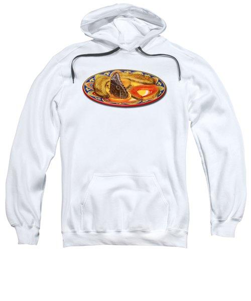 Snacking Butterfly Sweatshirt by Bob Slitzan