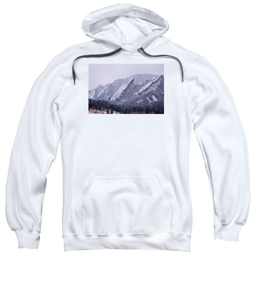Snow Dusted Flatirons Boulder Colorado Sweatshirt