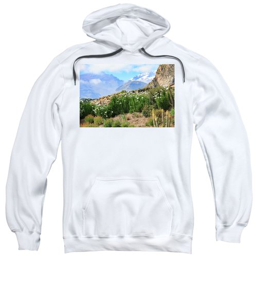 Sweatshirt featuring the photograph Snow In The Desert by David Chandler