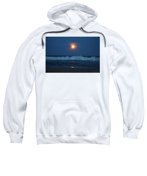 Snow Moon Ocean Waves Sweatshirt