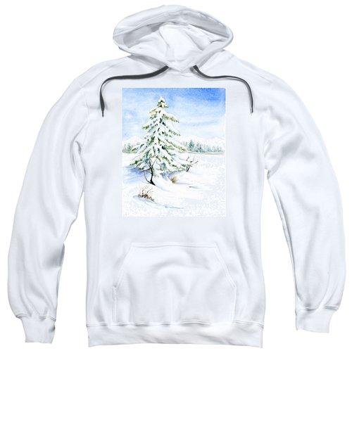 Snow On Evergreens Sweatshirt