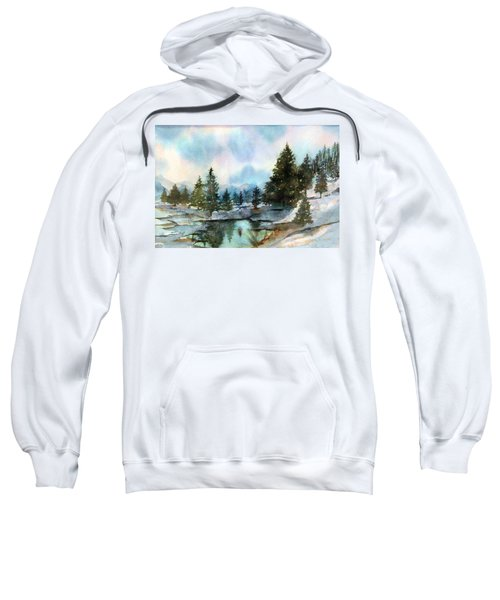 Snowy Lake Reflections Sweatshirt